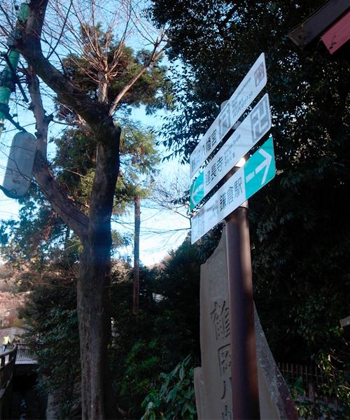 鶴岡八幡宮本殿横の階段下付近より