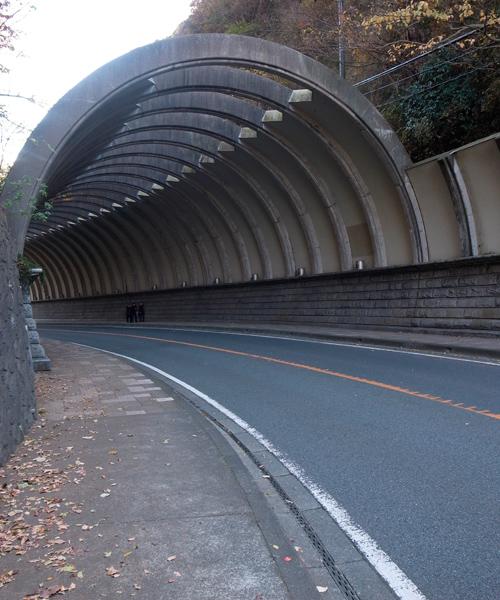 雪ノ下トンネル手前より