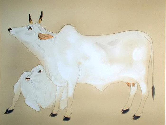 奥村土牛代表作品の聖牛