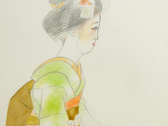 奥村土牛代表作品の舞子
