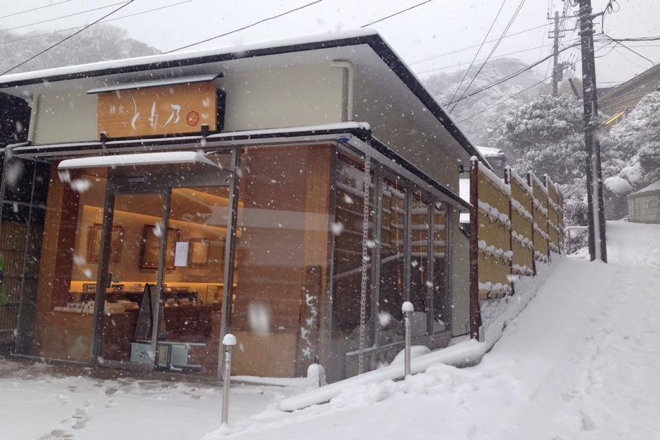 鎌倉とも乃の冬。雪化粧